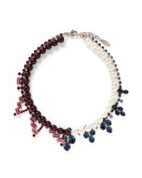Joomi Lim | Multicolor Crystal Faux Pearl Double Strand Necklace | Lyst