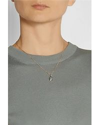 Monica Vinader - Pink Siren Rose Gold-Plated Aquamarine Necklace - Lyst