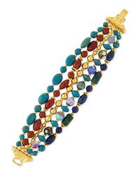 Jose & Maria Barrera | Blue Five-strand Mixed-bead Bracelet | Lyst