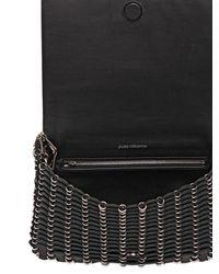 Paco Rabanne Black Leather Shoulder Bag