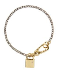 Marc By Marc Jacobs | Metallic Lost And Found Locked Up Silver Tone Bracelet | Lyst