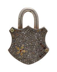 Sevan Biçakci | Metallic Flower & Star Padlock Charm | Lyst