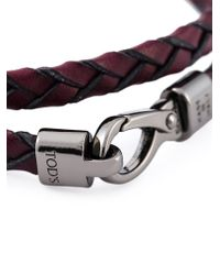 Tod's | Red 'my Colours' Bracelet for Men | Lyst