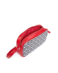 Mischa Red 'mari' Classic Hexagon Print Crossbody Bag