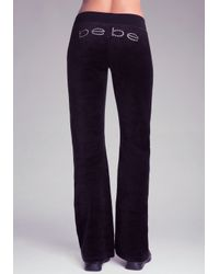 Bebe Red Velour Pants