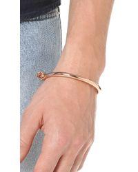 Miansai Metallic Screw Cuff Rose Gold-plated Bracelet for men