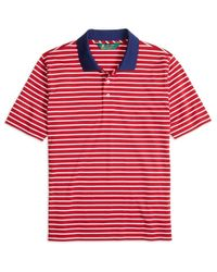 Brooks Brothers Red St Andrews Links Bar Stripe Polo Shirt for men