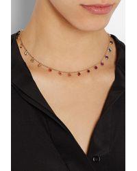 Bibi Van Der Velden | Metallic Rainbow 18karat Rose Gold Sapphire Necklace | Lyst