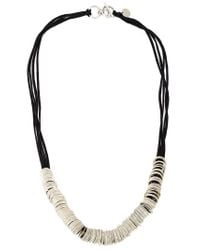 Ann Demeulemeester | Black Multi-ring Necklace | Lyst