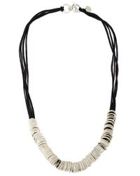 Ann Demeulemeester - Black Multi-ring Necklace - Lyst