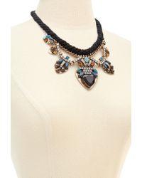 Forever 21 - Blue Faux Gem Statement Necklace - Lyst