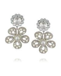Miu Miu - Yellow Silver-Plated, Swarovski Pearl And Crystal Clip Earrings - Lyst