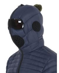 Ai Riders On The Storm Blue Zip-up Nylon Micro Ripstop Down Jacket for men
