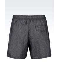 Emporio Armani - Gray Beach Shorts for Men - Lyst