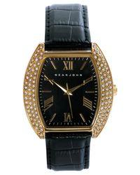 Sean John Men's Black Strap Watch 46x43mm 10018042 for men