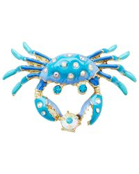 Betsey Johnson - Blue Feeling Crabby Crab Ring - Lyst