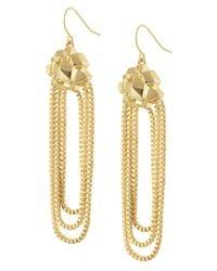 CC SKYE   Metallic Goldie Dangle Earrings   Lyst