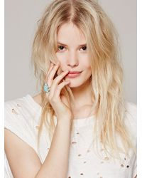 Free People - Blue Gemma Ring - Lyst