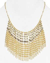 Coralia Leets | Metallic Drape Statement Necklace, 17"