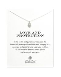 Dogeared | Metallic Love And Protection Sterling Silver Hamsa Necklace | Lyst