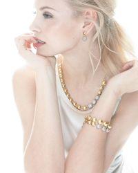 Gurhan Metallic Lentil Ice 24k Gold & Diamond Drop Earrings