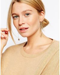 ASOS Metallic Fine Swallow Through Earrings