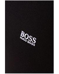BOSS Green | Black Cotton-blend Sweater 'zime_pf' for Men | Lyst