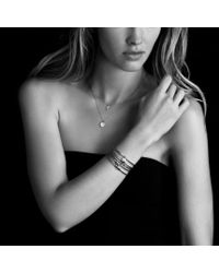 David Yurman | Metallic Cable Collectibles Cross with Diamonds in Gold On Chain | Lyst