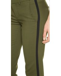 Vince Green Double Strapping Trousers Fir Treeblack