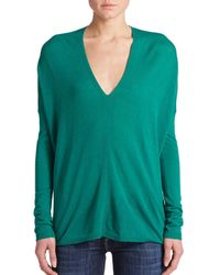 Vince | Green V-neck Sweater | Lyst