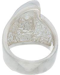 Undercover Metallic Silver Half Skull Ring for men