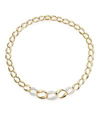 Nadri | Metallic Pave Curb Link Collar Necklace | Lyst