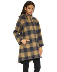 The Great - Brown The Hooded Coat - Big Check - Lyst