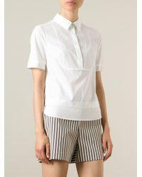 Tory Burch - White Layered Short Sleeve Shirt - Lyst