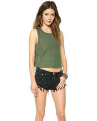 House of Harlow 1960 - Green Emery Top - Lyst
