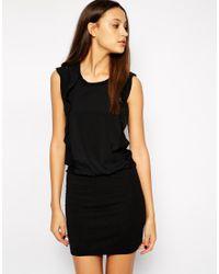 Y.A.S - Black Ruffle Side Dress - Lyst