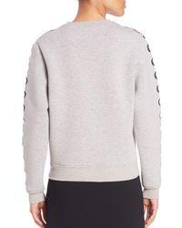 Opening Ceremony - Gray Cutout Sweatshirt - Lyst