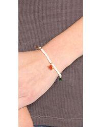 Shashi - Multicolor Lilu Crystal Bracelet Mint - Lyst