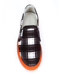 Carven - Black Checked Slip-On Sneakers for Men - Lyst
