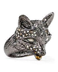 Alexis Bittar - Metallic Elements Crystal-Encrusted Fox Ring - Lyst