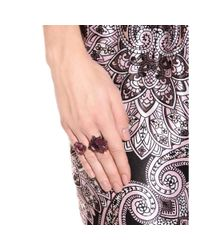 Lanvin Purple Crystalembellished Ring