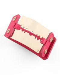 McQ - Purple Razorblade Bracelet Magenta - Lyst