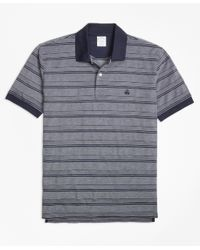 Brooks Brothers | Gray Textured Multi Stripe Polo Shirt for Men | Lyst