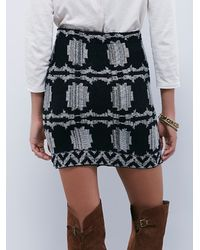 Free People | Black Womens Wrapped In You Blanket Skirt | Lyst