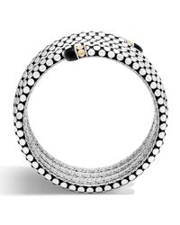 John Hardy | Metallic Dot Triple-coil Onyx Bracelet | Lyst