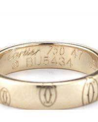 Cartier - Metallic Pre-Owned: 18Kr Happy Birthday Wedding Band - Lyst