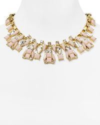 "kate spade new york - Metallic Turn Heads Box Chain Statement Necklace, 17"" - Lyst"