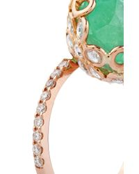 Lito - Green 18K Yellow Gold Ring With Emerald - Lyst