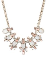 Givenchy | White Cluster Gem Collar Necklace | Lyst