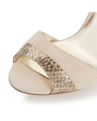 Dune | Metallic Meena Mixed Material High Heel Sandals | Lyst